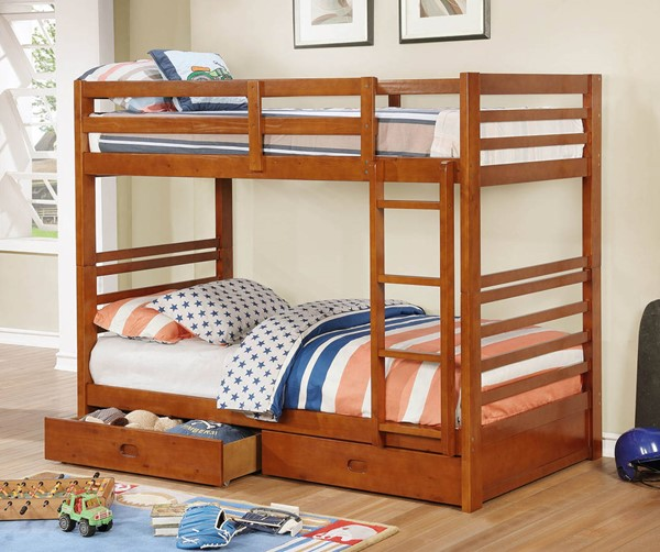 Furniture of America California IV Twin over Twin Bunk Beds FOA-CM-BK588-BUNK-VAR