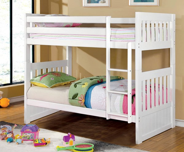 Furniture of America Canberra II Bunk Beds FOA-CM-BK607-BBED-VAR