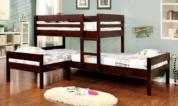 Furniture of America Ranford Espresso Twin Triple Bunk Bed FOA-CM-BK626-BED