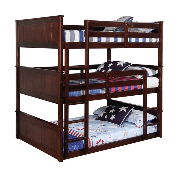 Furniture Of America Therese Triple Decker Beds FOA-CM-BK628-TRIBUNK-VAR