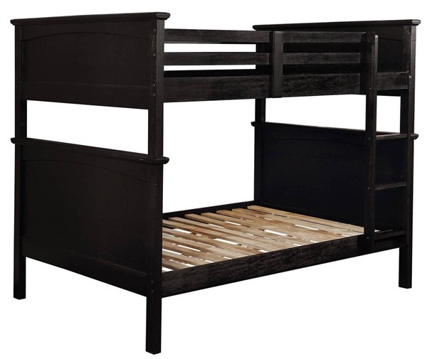 Furniture of America Marci Black Full over Full Bunk Bed FOA-CM-BK630BK-FF-BED