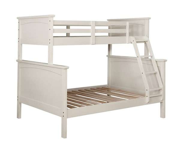 Furniture of America Marci White Twin over Full Bunk Bed FOA-CM-BK630WH-TF-BED