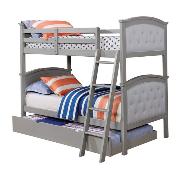 Furniture of America Freda Twin over Twin Trundle Bunk Beds FOA-CM-BK715-TR452-BED-VAR