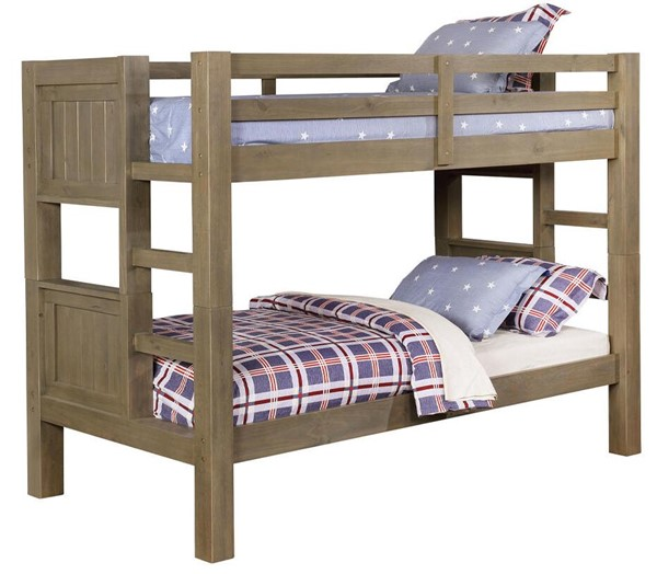 Furniture of America Kindred Gray Twin over Twin Bunk Bed FOA-CM-BK911-BED