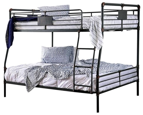 Furniture of America Olga I Full Over Queen Bunk Bed FOA-CM-BK913FQ-BED