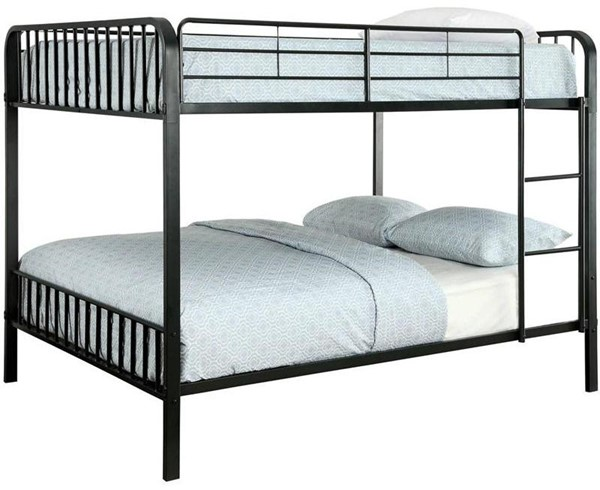 Furniture of America Clement Metal Full Over Full Bunk Bed FOA-CM-BK928FF-BED