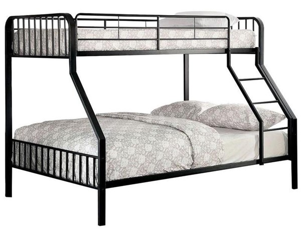 Furniture of America Clement Metal Twin Over Full Bunk Bed FOA-CM-BK928TF-BED