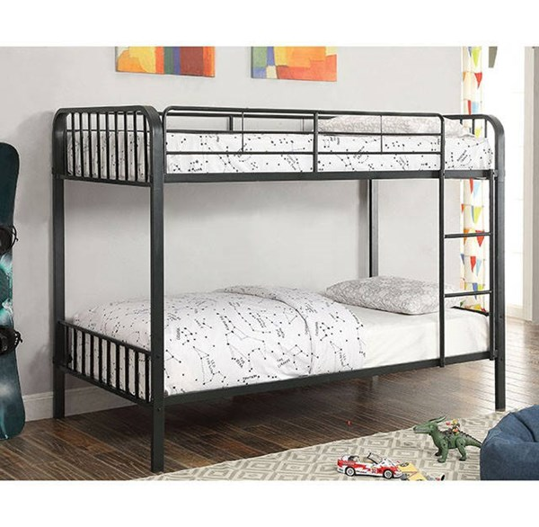 Furniture of America Clement Metal Twin Over Twin Bunk Bed FOA-CM-BK928TT-BED