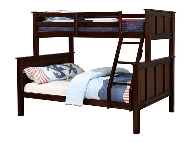Furniture of America Gracie Twin Over Full Bunk Bed FOA-CM-BK930TF-BED