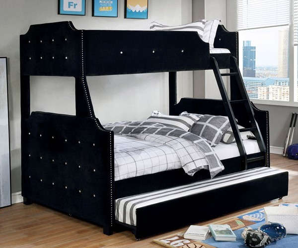 Furniture Of America Jomei Black Gray Bunk Beds FOA-CM-BK964-BEDS