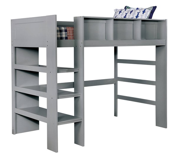 Furniture Of America Annemarie Gray Loft Bed FOA-CM-BK965GY-L-BED