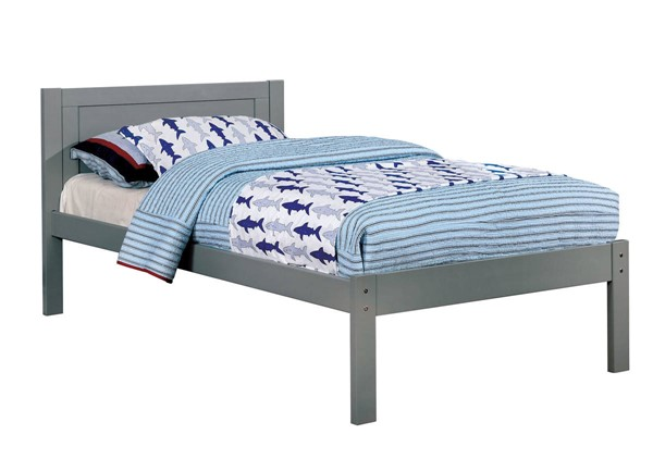 Furniture Of America Annemarie Gray Twin Bed FOA-CM-BK965GY-T-BED