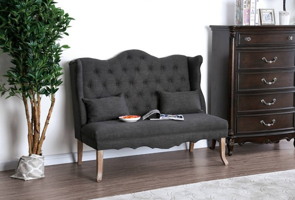 Furniture of America Donnelly Gray Love Seats FOA-CM-BN5101-LS-VAR