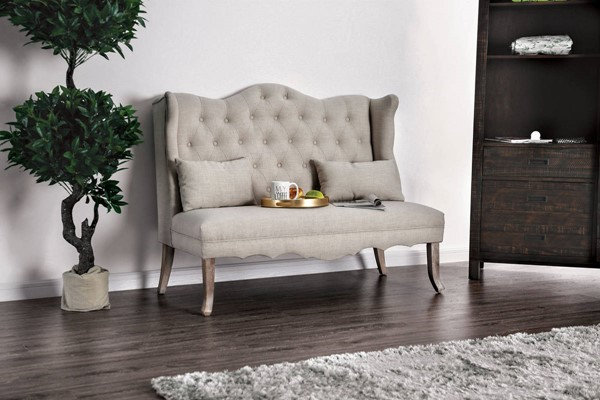 Furniture of America Donnelly Ivory Love Seat FOA-CM-BN5101IV