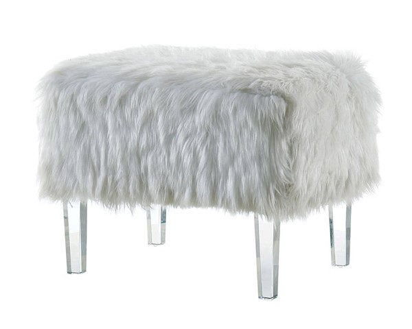 Furniture of America Zali White Ottoman FOA-CM-BN5668WH-3A