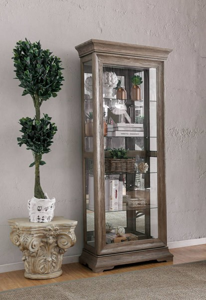 Furniture of America Choteau Natural Tone Display Shelf FOA-CM-CR139L
