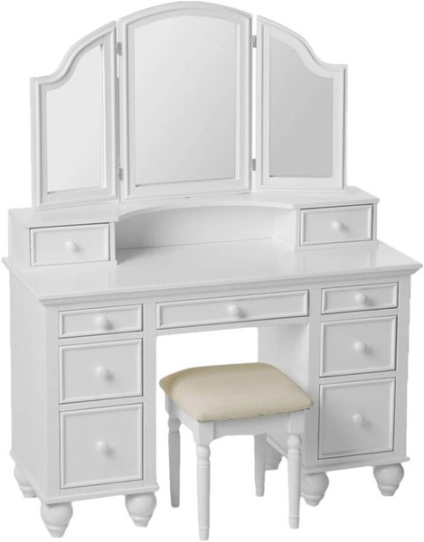 Furniture Of America Athy White 3pc Vanity Set FOA-CM-DK6848WH