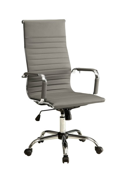 Furniture of America Avondale Gray High Back Office Chair FOA-CM-FC628L-GY
