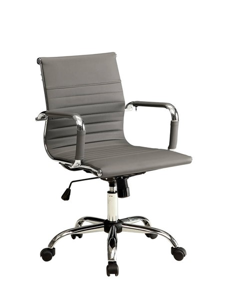 Furniture of America Avondale Gray Low Back Office Chair FOA-CM-FC628S-GY