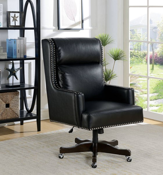 Furniture of America Bonner Black Office Chair FOA-CM-FC650
