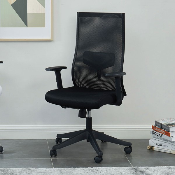 Furniture of America Orli Black Large Office Chair FOA-CM-FC656BK-L