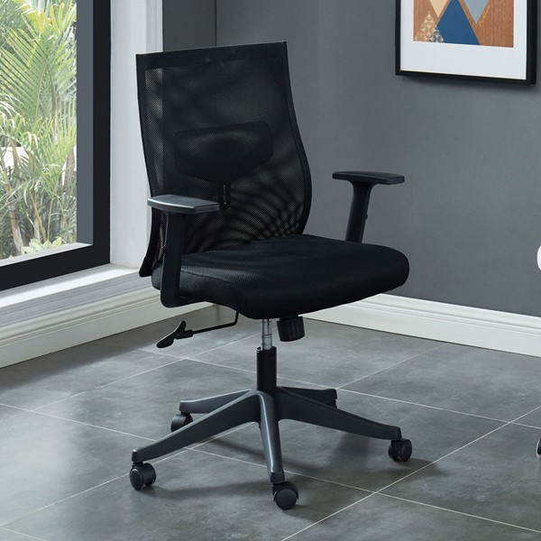 Furniture of America Orli Black Office Chair FOA-CM-FC656BK-S