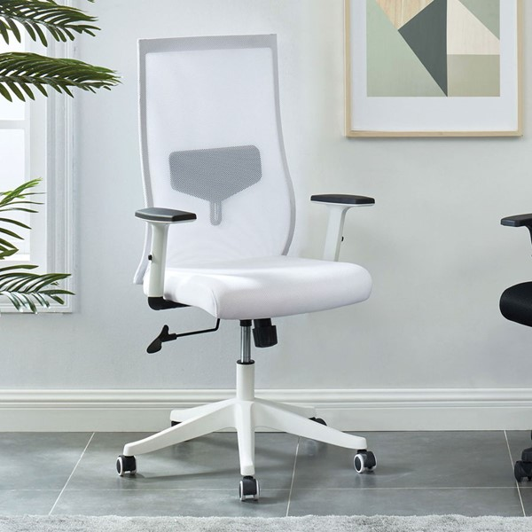 Furniture of America Orli White Large Office Chair FOA-CM-FC656WH-L