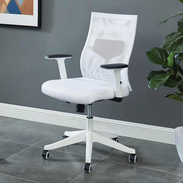 Furniture of America Orli White Office Chair FOA-CM-FC656WH-S