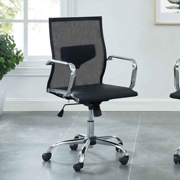 Furniture Of America Ursa Black Small Office Chair FOA-CM-FC658-S