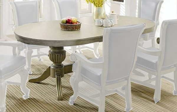 Furniture of America Melina Gray Game Table FOA-CM-GM367GY-T-TABLE