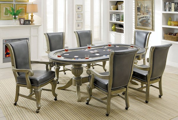 Furniture of America Melina Game Tables FOA-CM-GM367-DT-VAR
