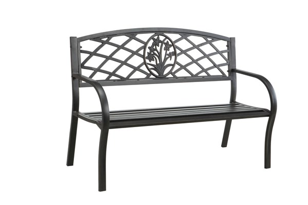 Furniture of America Minot Patio Steel Bench FOA-CM-OB1809