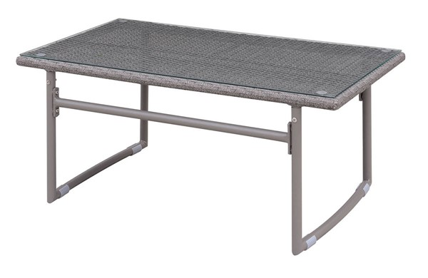 Furniture of America Amya Gray Outdoor Coffee Table FOA-CM-OC2134-C