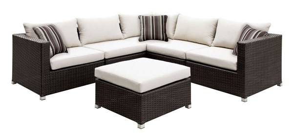 Furniture of America Abion Ivory Patio Sectional FOA-CM-OS1821IV-SET