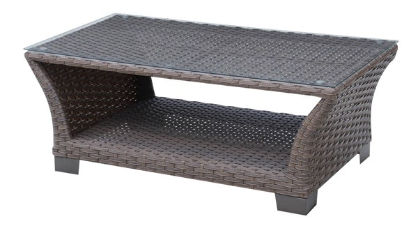 Furniture of America Bowbells Brown Patio Coffee Table FOA-CM-OS1829BR-C