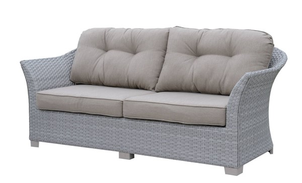 Furniture of America Bowbells Gray Patio Sofa FOA-CM-OS1829GY-SF