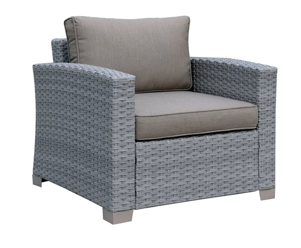 Furniture of America Brindsmade Gray Patio Chair FOA-CM-OS1842GY-CH