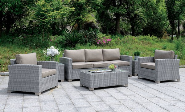 Furniture of America Brindsmade Gray 6pc Patio Set FOA-CM-OS1842GY-SET