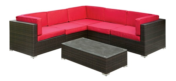 Furniture of America Zendaya Patio Sectionals with Coffee Table FOA-CM-OS2115-PSEC-VAR
