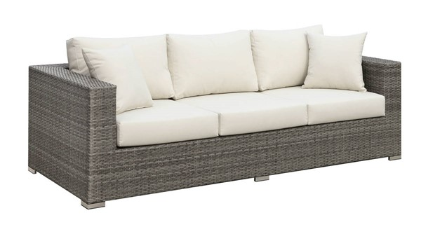 Furniture of America Somani Gray Ivory Sofas FOA-CM-OS2128-OSF-VAR