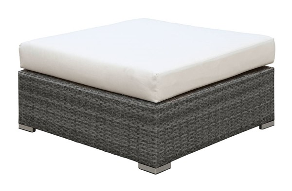 Furniture of America Somani Gray Ivory Large Ottoman FOA-CM-OS2128-F