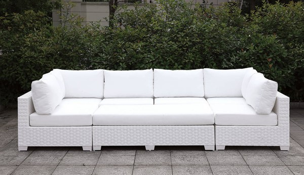Furniture Of America Somani II White Outdoor Daybed FOA-CM-OS2128WH-SET5