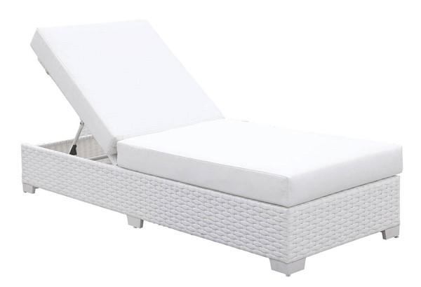 Furniture of America Somani White Adjustable Chaise FOA-CM-OS2128WH-G
