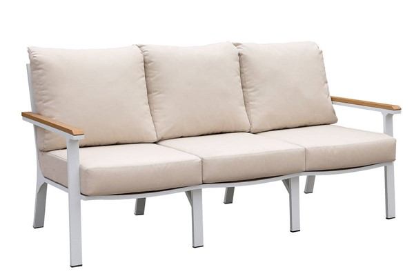 Furniture of America Anishan White Oak Sofa FOA-CM-OS2502-SF