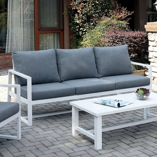 Furniture of America India Gray Sofa FOA-CM-OS2590GY-SF