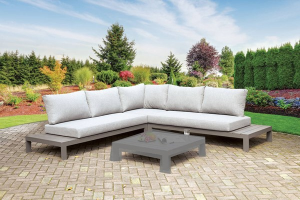 Furniture of America Eliana Gray Patio Sectional FOA-CM-OS2591-SET