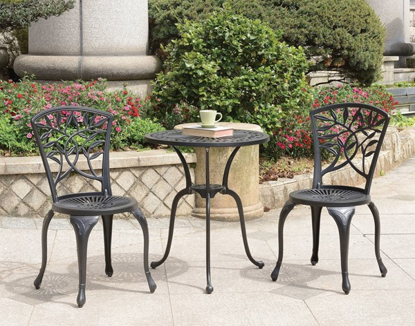 Furniture of America Crary 3pc Round Bistro Table Sets FOA-CM-OT1701-3PK-VAR