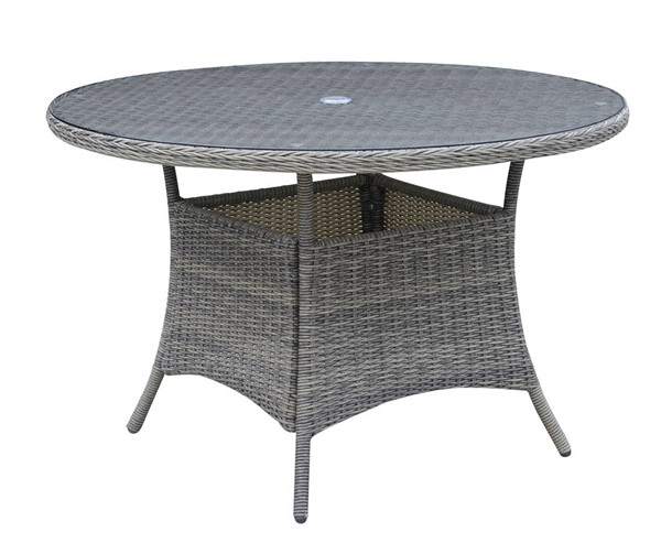 furniture of america canistota 47 inch round patio table the classy home. Black Bedroom Furniture Sets. Home Design Ideas