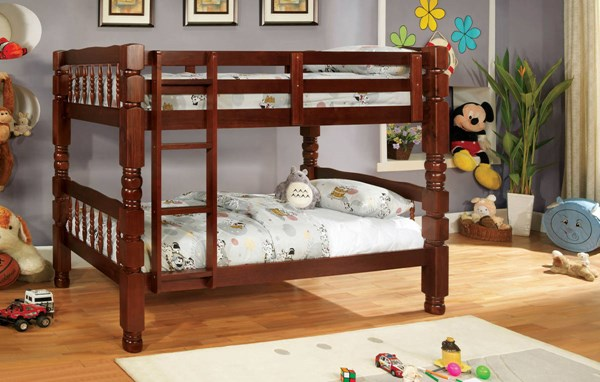 Furniture of America Carolina Twin Over Twin Bunk Beds FOA-CM2527-BBED-VAR
