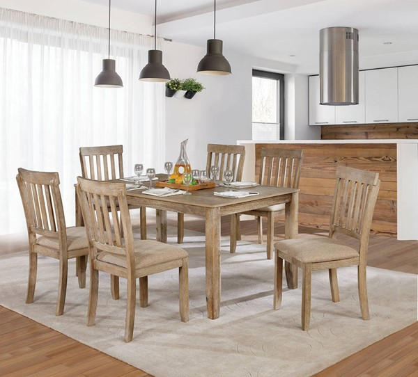 Furniture of America Kiara Natural 7pc Dining Set FOA-CM3010T-7PK